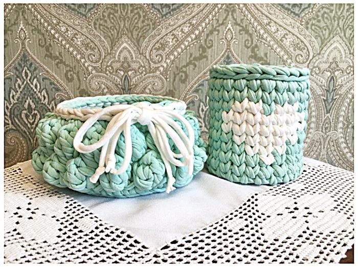 Вязание зефирок из трикотажной пряжи