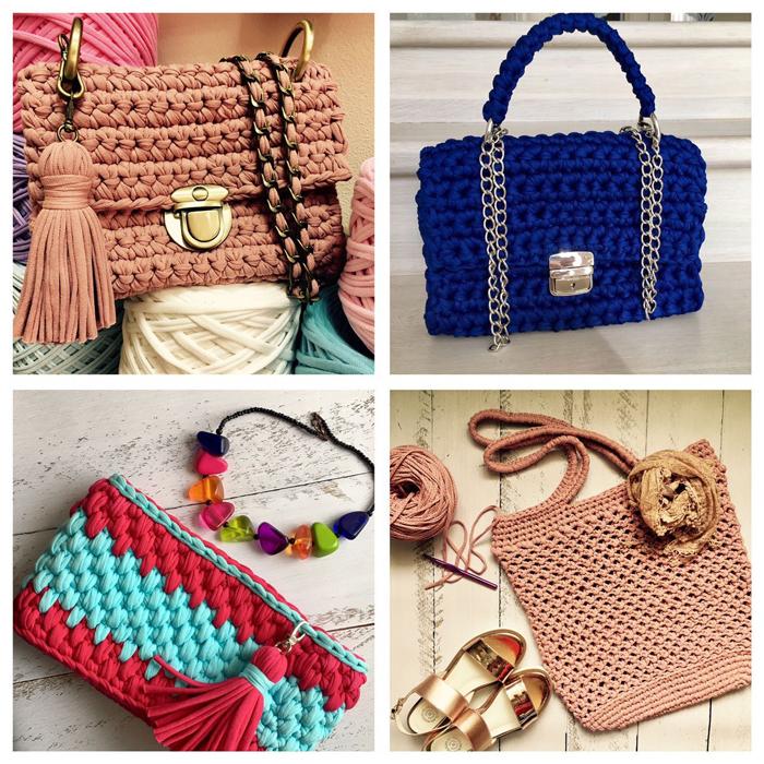 Вязание сумок трикотажной ниткой